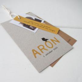 Geboortekaart Aron
