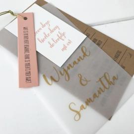Trouwkaart Wijnand & Samantha
