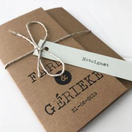 Trouwkaart pocketfold Fardou & Gerieke