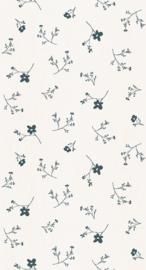 Behang Bloemenzee groot-blauw