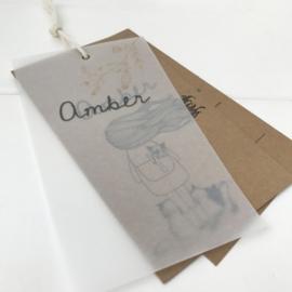 Geboortelabel Amber