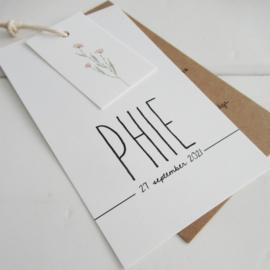 Geboortelabel Phie