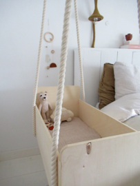 Mobiel houten kralen - roestbruin desert days
