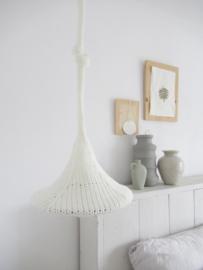 Gebreide hanglamp wit 25,5 cm