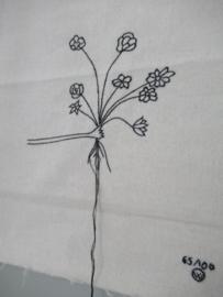 *NIEUW* Poster van katoen bloemen stitched art