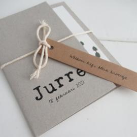 Geboortekaart pocketfold Jurre