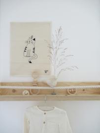 *NIEUW* Poster van katoen stitched art - cat