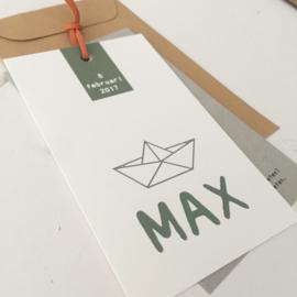 Geboortelabel Max