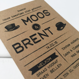 Geboortekaart Moos & Brent
