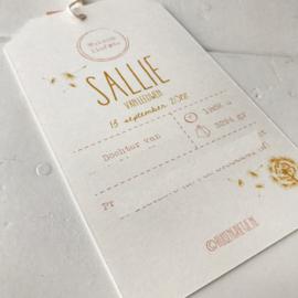 Geboortelabel Sallie