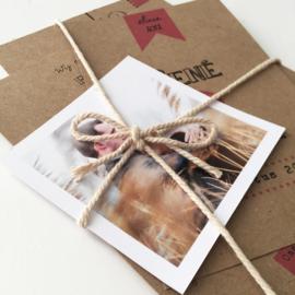 Trouwkaart pakket met foto Rene & Gerda