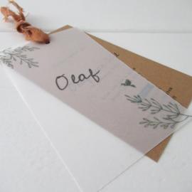 *NIEUW* Geboortelabel Olaf