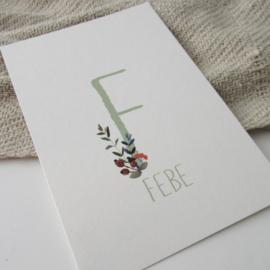 Geboortekaart Febe