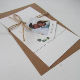 Trouwkaart Daan & Inge