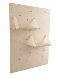 Wandpaneel met planken  underlayment/vilt warmwit