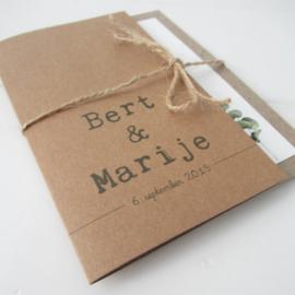 Trouwkaart Bert & Marije