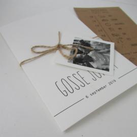 Trouwkaart Thea & Gosse Jorrit