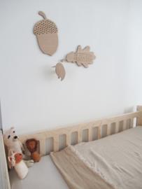 *NIEUW* Borduur blad Ted & Tone - muurdecoratie blad borduur