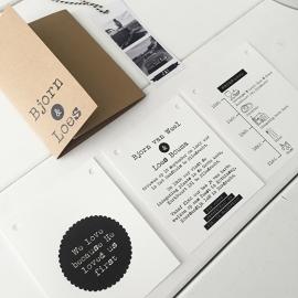 Trouwkaart pakket met polaroids