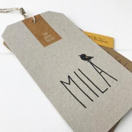 Geboortelabel Mila