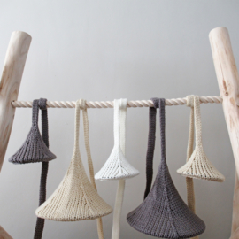 Gebreide hanglamp wit 15,5 cm