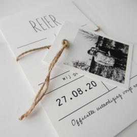Save the Date kaart met foto