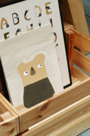 *NIEUW* Poster A4 Bear - Ted & Tone