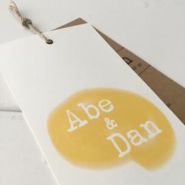 Geboortelabel Abe & Dan