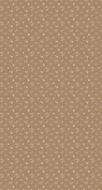 Behang Bloemenzee mini mosterdbruin