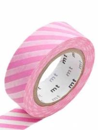 MT Maskingtape stripe pink- maskingtape roze gestreept