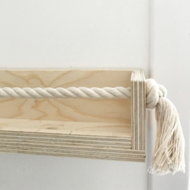 Wandplank kinderkamer underlayment-touw