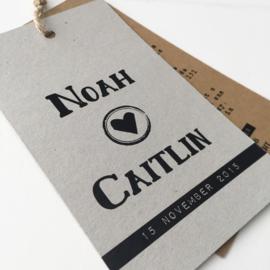 Trouwlabel Noah & Caitlin