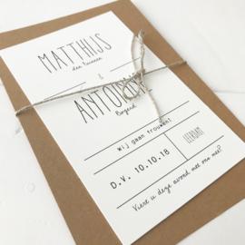 Trouwkaart Matthijs & Antoinne