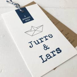 Geboortelabel Jurre & Lars
