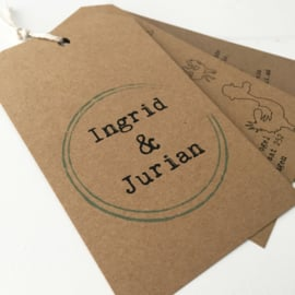 Trouwlabel Ingrid en Jurian
