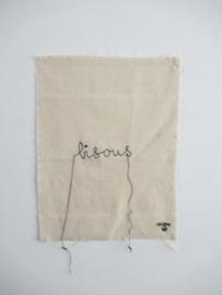 *NIEUW* Poster van katoen stitched art Lemonwise - Bisous