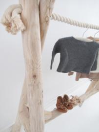 Kledingrek hout boomstammen babykamer/kinderkamer