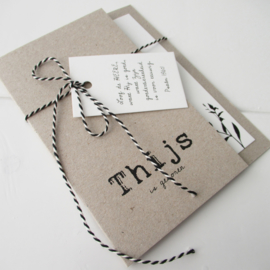 Geboortekaart pocketfold Thijs