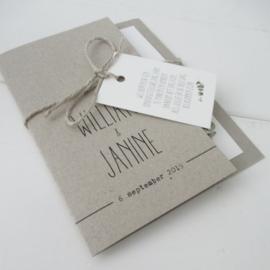 Trouwkaart William & Janine