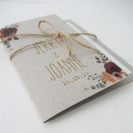 Trouwkaart Jerry & Joanne