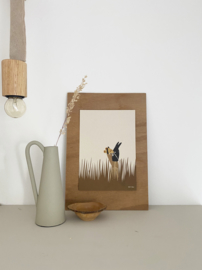 *NIEUW* Poster A5 Field view - Ted & Tone