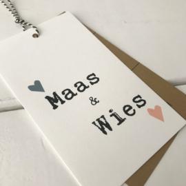 Geboortelabel Maas & Wies