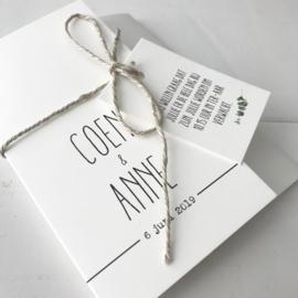 Trouwkaart Coen & Anne