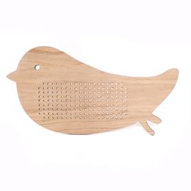 *NIEUW* Houten borduurvogel XL