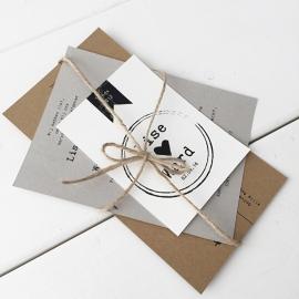 Trouwkaart pakket Lise & Ward