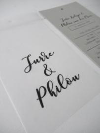 *NIEUW* Trouwkaart Jurre & Philou kalk-grijs