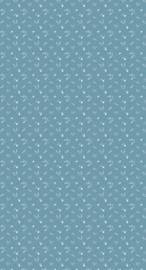 Behang Bloemenzee mini blauw