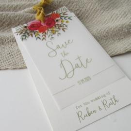 Save the Date kaart Ruben en Ruth