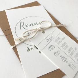 Trouwkaart Ronnie & Tianda