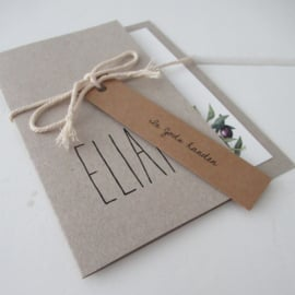 Geboortekaart pocketfold Elian